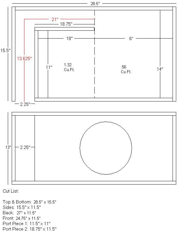 ported box for pioneer premier spl  subwoofers / enclosures