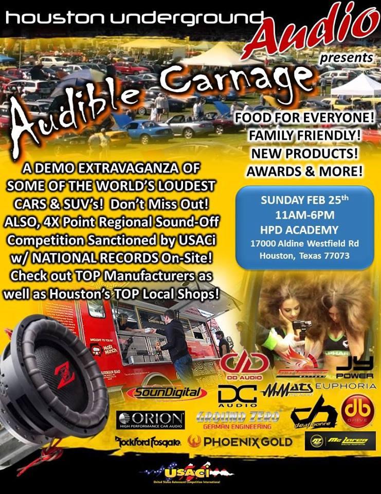 Audible Carnage (Houston) - Car Shows - #1 Car Audio
